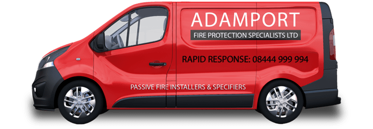 Adamport Fire Protection Specialists - Van Mockup